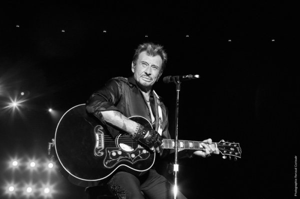 johnny hallyday on stage !