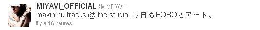 MIYAVI est en studio !