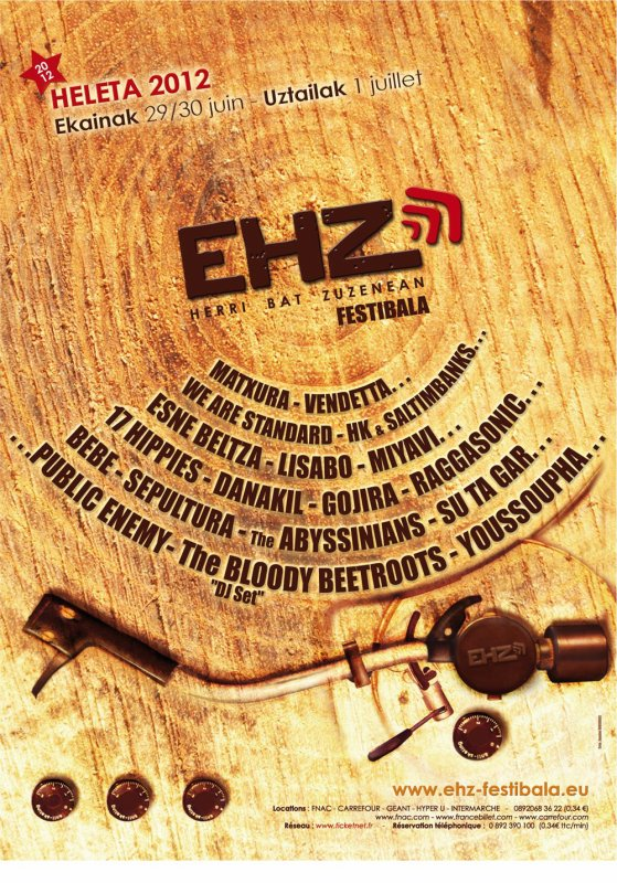 Affiche EHZ Festival (Pays Basque)
