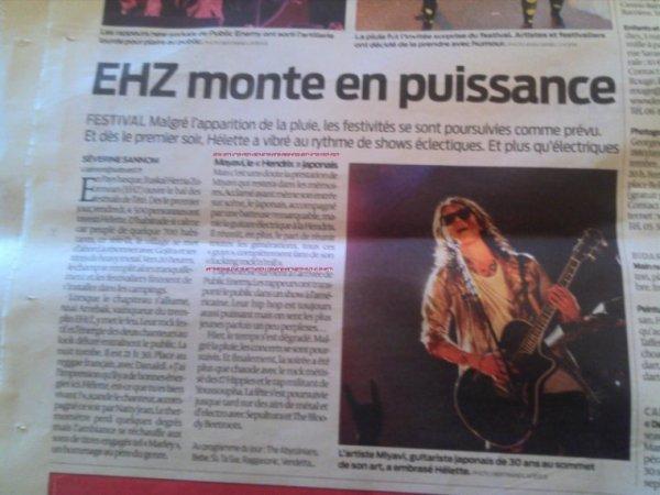 Journal Sud Ouest  du 01/07/12