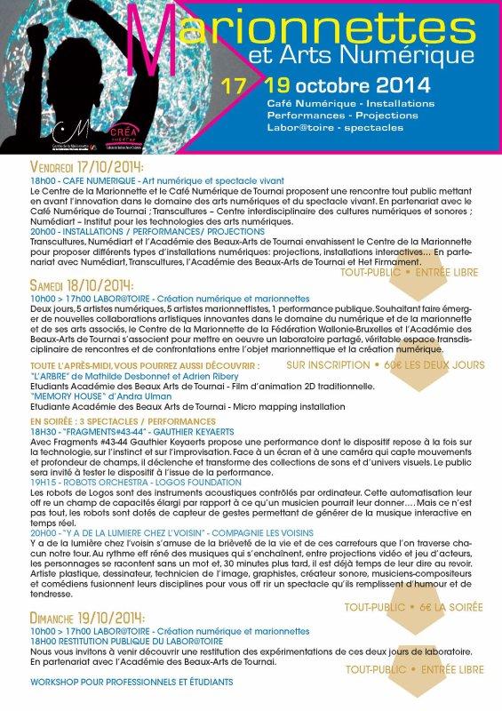 2014-010-17-TOURNAI - CREATION NUMERIQUE ET MARIONNETTES