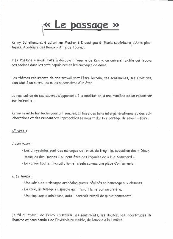 2014-10-04- EXPO AUX ATELIERS TOURNAISIENS DE TAPISSERIE - CRECIT