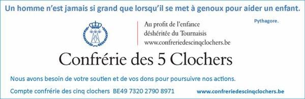 201-12-30-TOURNAI - UN BEAU GESTE VIS-à-VIS DE LA CONFRERIE DES 5 CLOCHERS