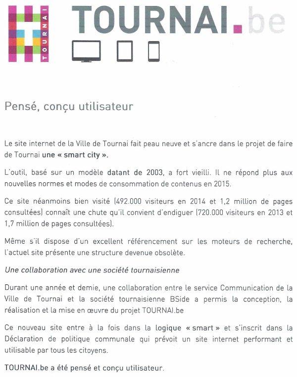 2015-03-19-TOURNAI - UN NOUVEAU SITE A LA VILLE