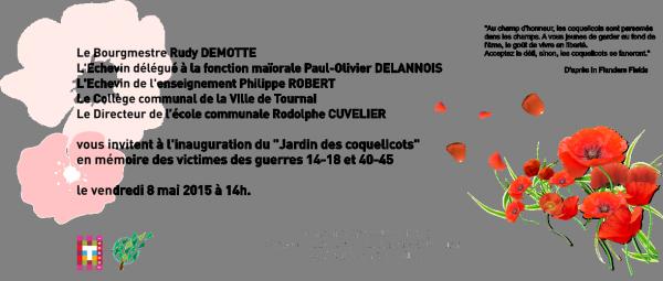 2015-05-08- INVITATION A L'INAUGURATION DES COQUELICOTS