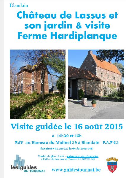 2015-08-16-BLANDAIN - VISITE DU CHÂTEAU DE LASSUS