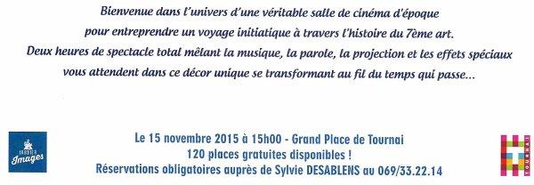 2015-11-15-TOURNAI - L'HISTOIRE DU CINEMA GRATUITE (120 PLACES)