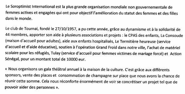 2015-2016- TOURNAI - UN CLUB EFFICIENT