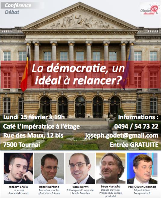 CONFERENCE: La démocratie, un idéal à relancer ?