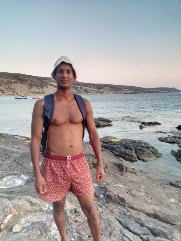Ce fut une journée agréable et amusante Pour moi Dans la mer