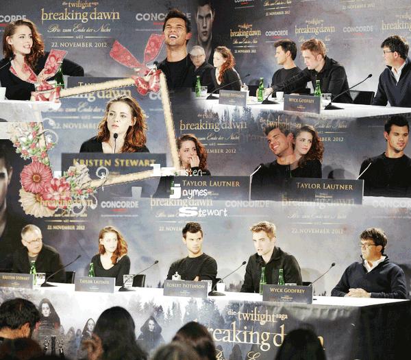 "Conférence de Presse ""Twilight 5 : Révélation"" à BERLIN [16.11.12]"
