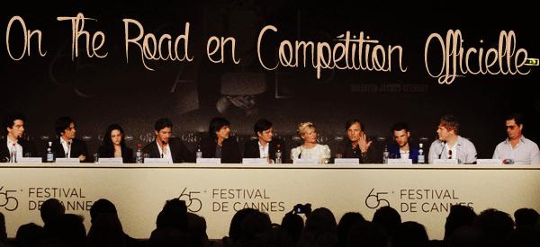 65ème Festival de Cannes Conférence de Presse « Sur La Route » [23.05.12]
