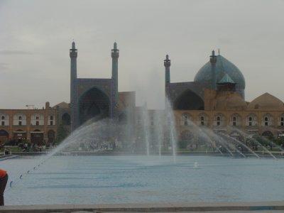 Ispahan - La Grande Place et la mosquée du Shah Abbas (ou de l'Imam)