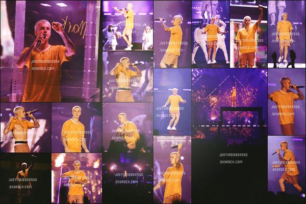 . 22/06/16 : Justin Bieber a été aperçu lors de sa prestation au Purpose Video, a Los Angeles'. Je ne suis pas fan de sa nouvelle coupe. Sa tenue est plutôt simple,qu'en penses-tu ?  .