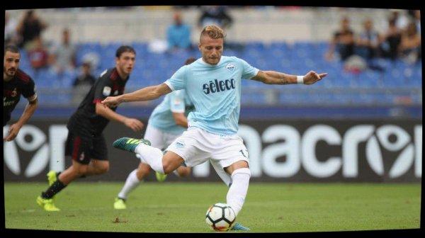 La Lazio Rome étrille l'AC Milan (4-1) et grimpe provisoirement sur le podium