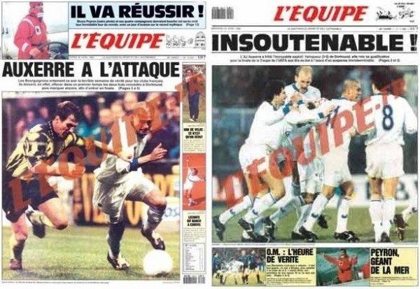 20 avril 1993 : AJ Auxerre - Borussia Dortmund
