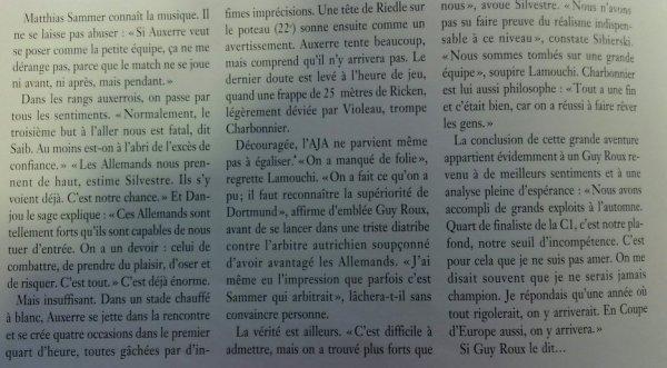 Il y a 20 ans, Auxerre s'arrêtait en quart de finale de la Ligue des champions