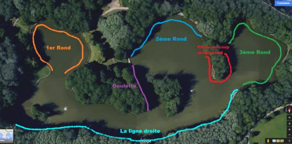 Vue satellite de l'étang