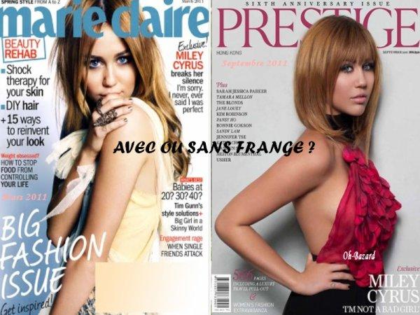 Photoshoots de Miley, La préfères-tu avec ou sans frange ?