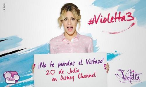Dimanche Violetta 3  l 'avant premier à 20 heures en Argentine