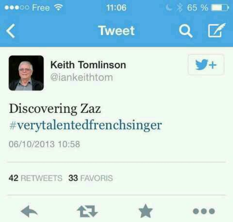Le grand pere de Louis a tweeter ça ce matin ....
