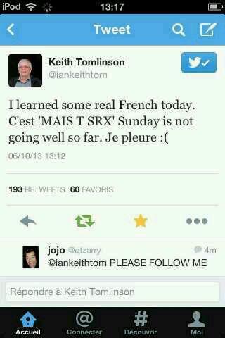 Un autre tweet de la part du grand pere de Louis x]