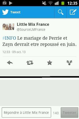 Infos sur le mariage de Zerrie :)