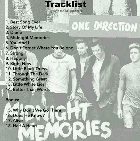 Chansons de l'album + chansons bonus :)