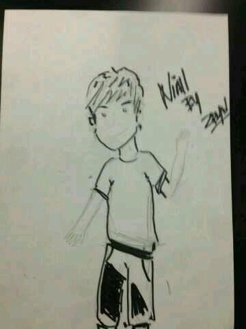 Zayn qui a dessiner les boys :)