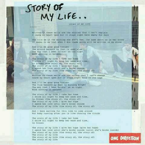 Paroles de Story Of My Life :)