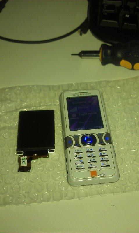 Sony Ericsson écran hs