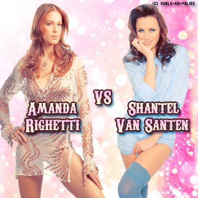 {Article 41} Duel n°37 : Amanda Righetti  vs Shantel Van Santen   Texte ● Pix ● Déco ● Newsletter