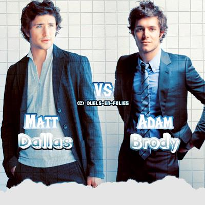 {Article 42} Duel n°38 : Matt Dallas  vs Adam Brody    Texte ● Pix ● Déco ● Newsletter