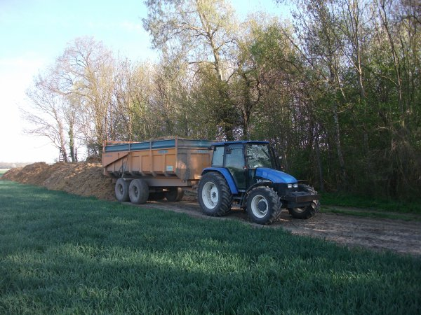 new holland tl 90 + benne roland turbo 15