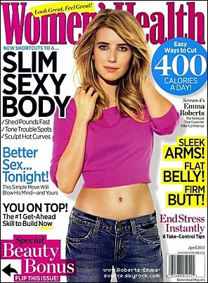 Emma en couverture de Women's Health !