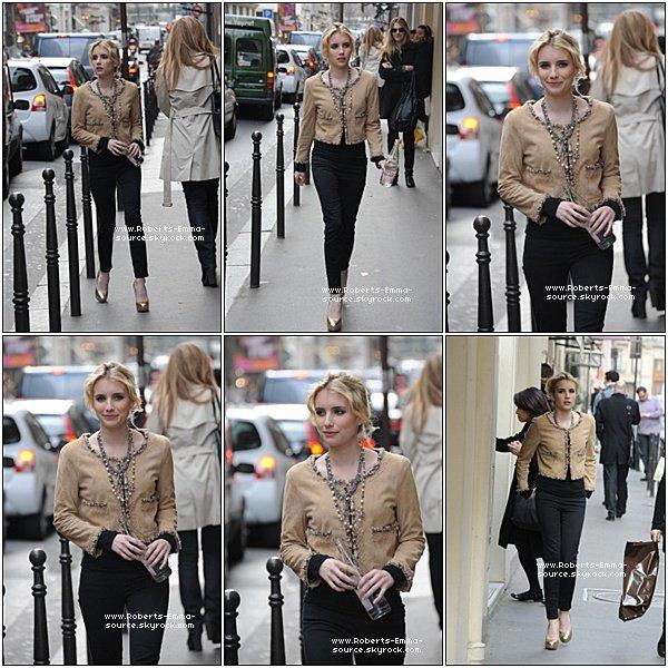 09.03.2011 : Emma se promenant dans Paris