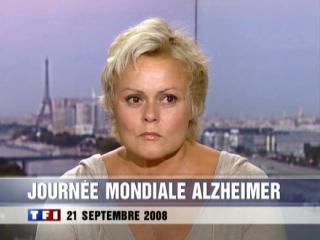 VIDEO : Le Passage de Muriel Robin au JT de TF1 le Dimanche 21/09/08