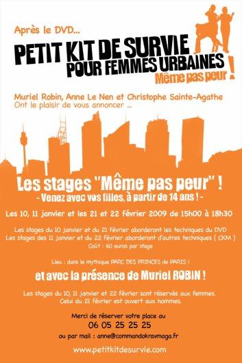 Petit Kit de Survie Pour Femmes Urbaines : Après le DVD, les Stages..