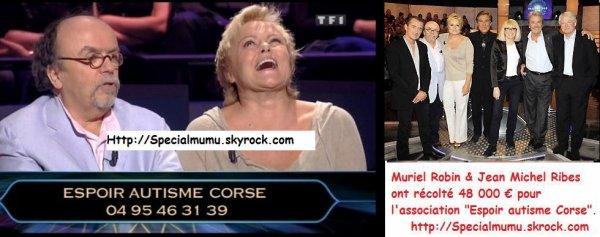 """Passage TV : Muriel Robin invitée à """"Qui veut gagner des Millions"""", Samedi 29 Août."""