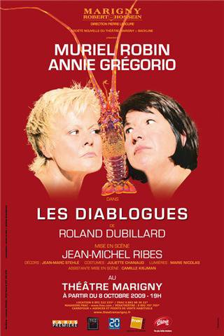 """Théâtre : Muriel Robin & Annie Grégorio - """"LES DIABLOGUES""""."""