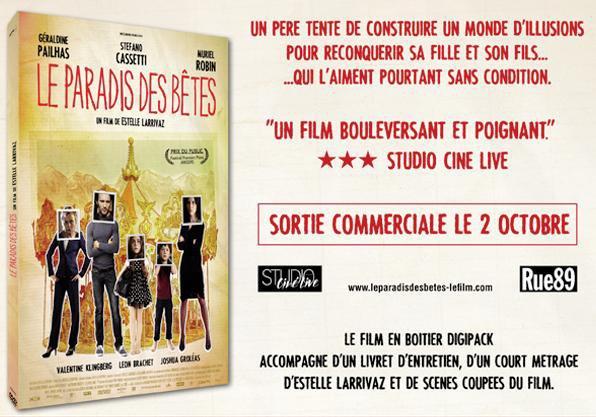 """NEWS :  Sortie DVD du film """"Le Paradis des Bêtes"""" + Infos diverses."""