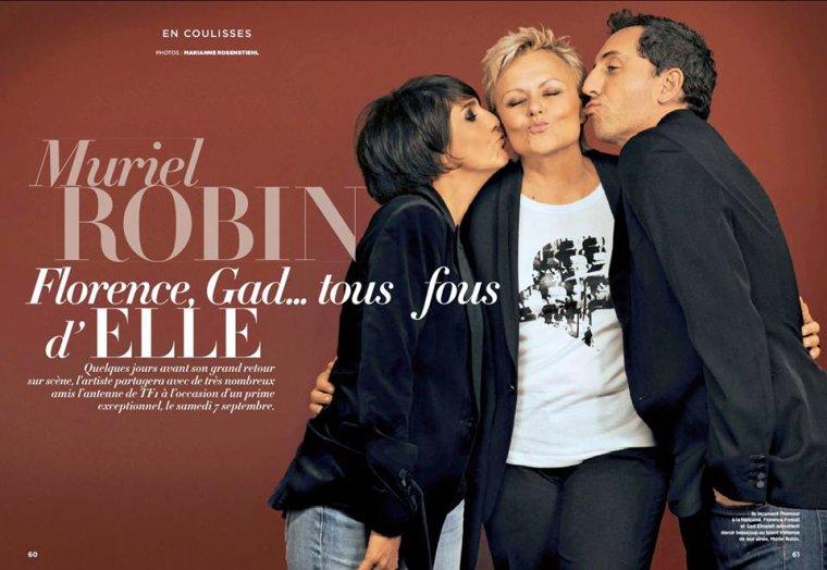 """""""MURIEL ROBIN FAIT SON SHOW"""" sur TF1 le Samedi 7 Septembre à 20h50."""