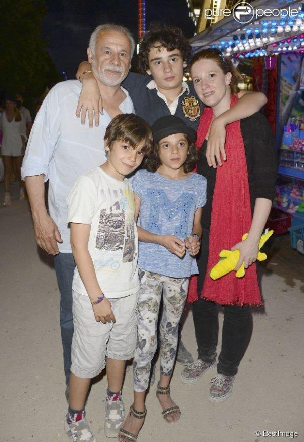 Francis Perrin et ses enfants