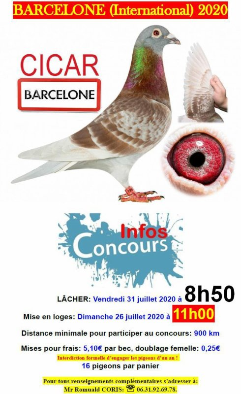 BARCELONE International du Vendredi 31 juillet 2020
