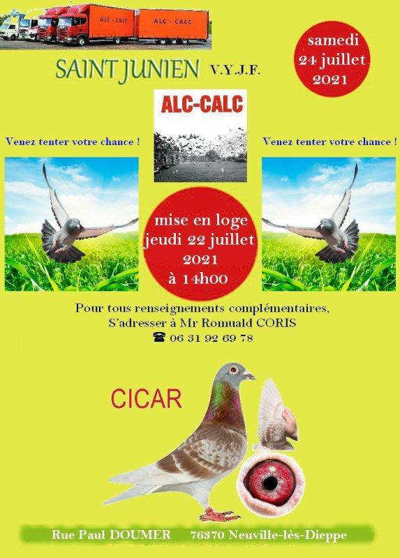 Mise en loge SAINT-JUNIEN ALC-CALC jeudi 22/07/2021 à 14h00
