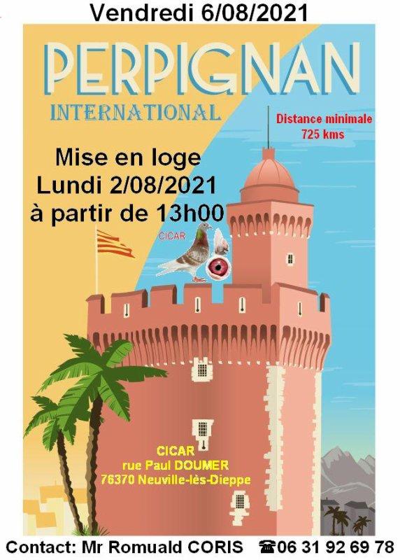 Mise en loge PERPIGNAN International lundi 2 août 2021 à 13h00