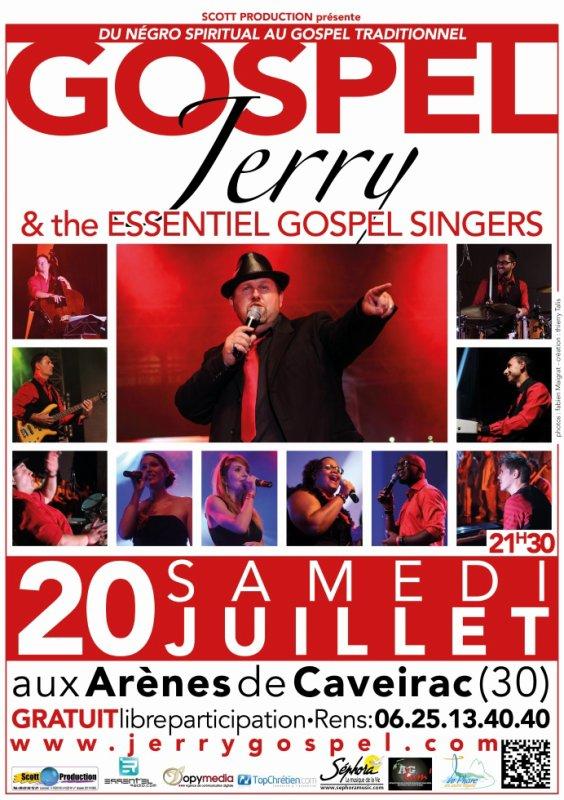 SOREE GOSPEL le 20 juillet  aux Arènes de CAVEIRAC 21h3000