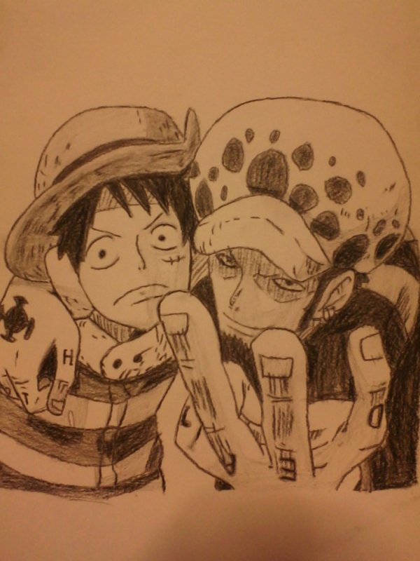 Luffy et Trafalgar Law
