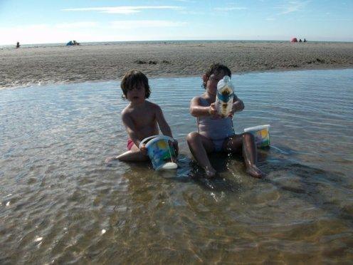 mes 2 netnet a la plage
