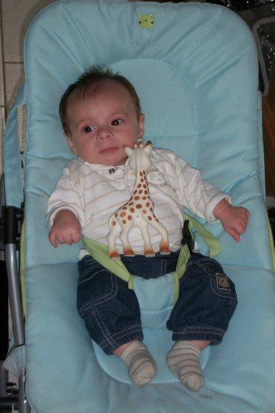 mon loulou avec Sophie la Girafe